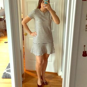 Ann Taylor Loft Striped Drop Waist Dress